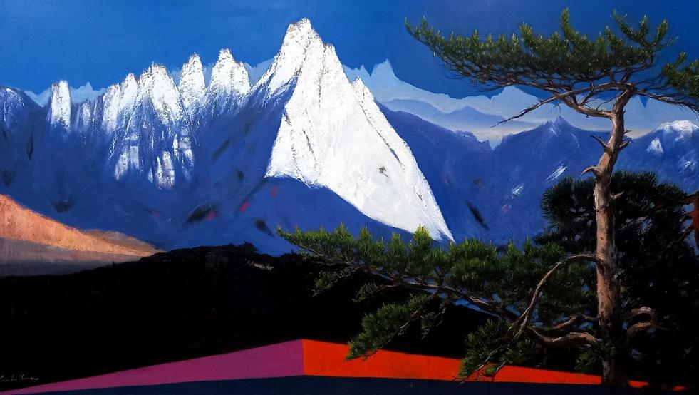 도봉산, Oil on canvas, 192.9 x 97.0cm. 2014.(120M).jpg
