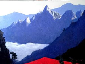 설악산에 운해, Oil on canvas, 145.5 x 97.0cm. 2021.(80P)