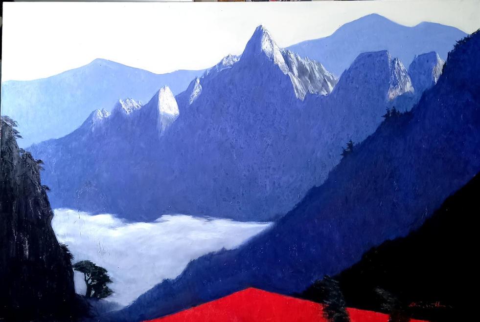 설악산에 운해, Oil on canvas, 145.5 x 97.0cm. 2021.(80P).jpg
