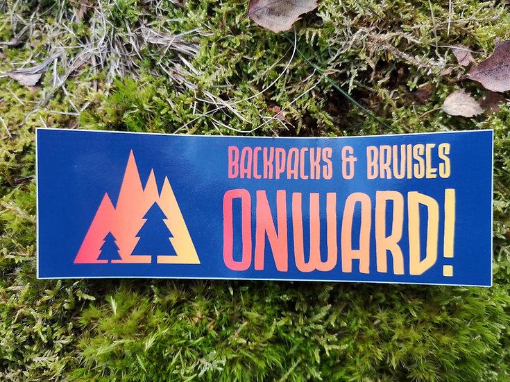 Vinyl 'Onward' Sticker 15x5cm