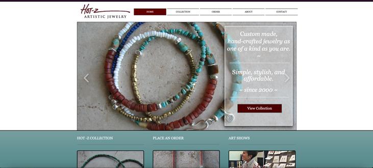 Hot-z Jewelry Start-up Website