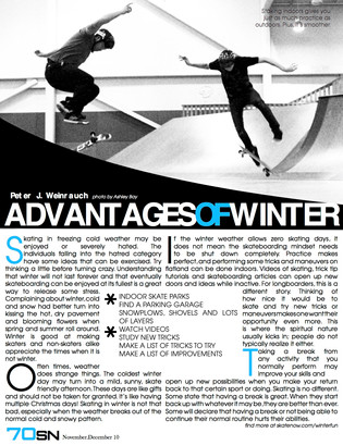 Magazine Project - Article Sample