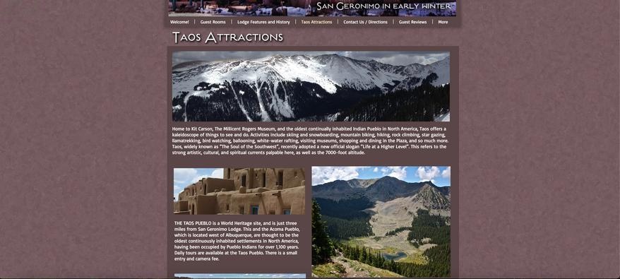San Geronimo Lodge Start-up Website