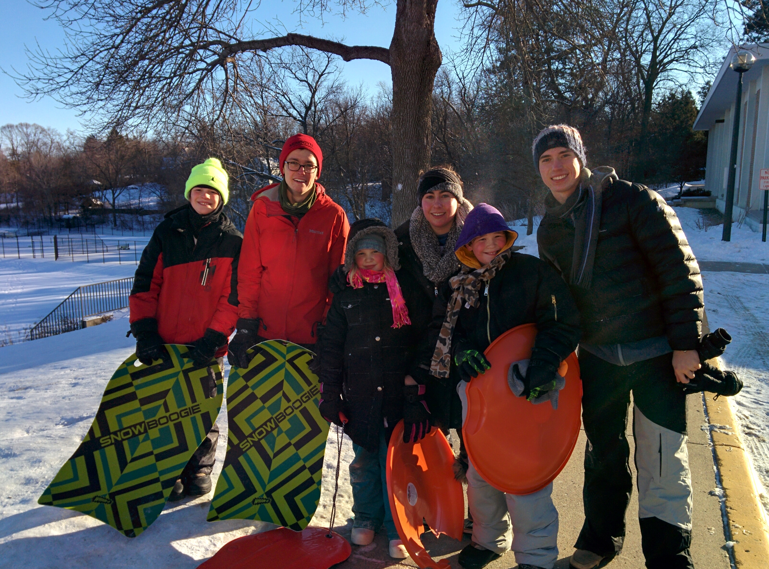 Sledding with Friends!