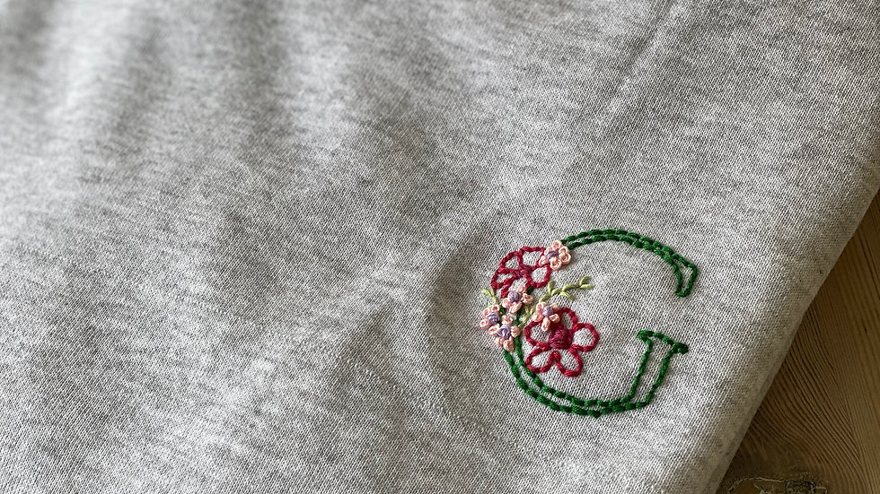 Floral Initial Sweatshirt - Choose your charity!