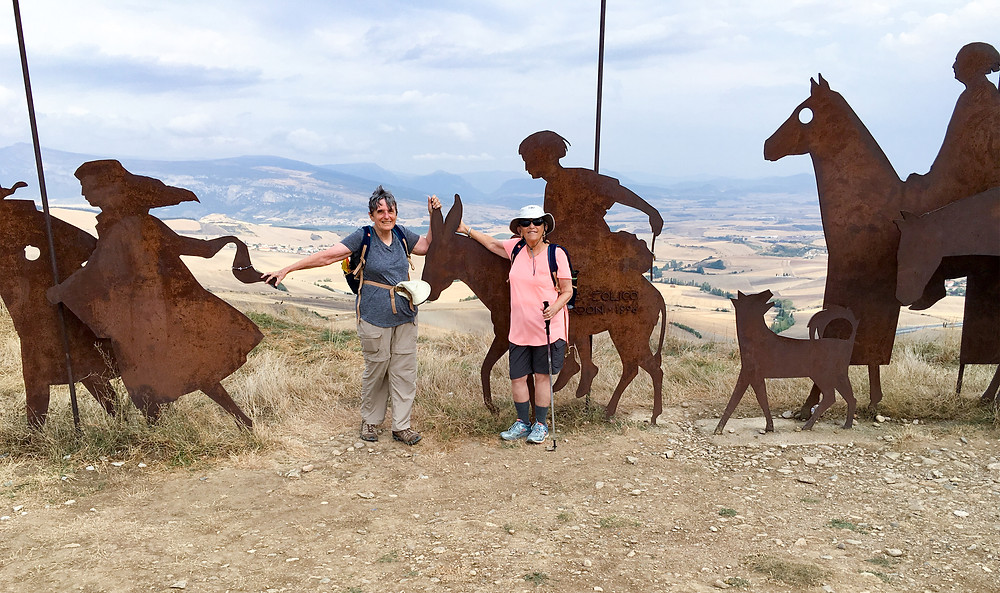 Steel statues Camino de Santiago