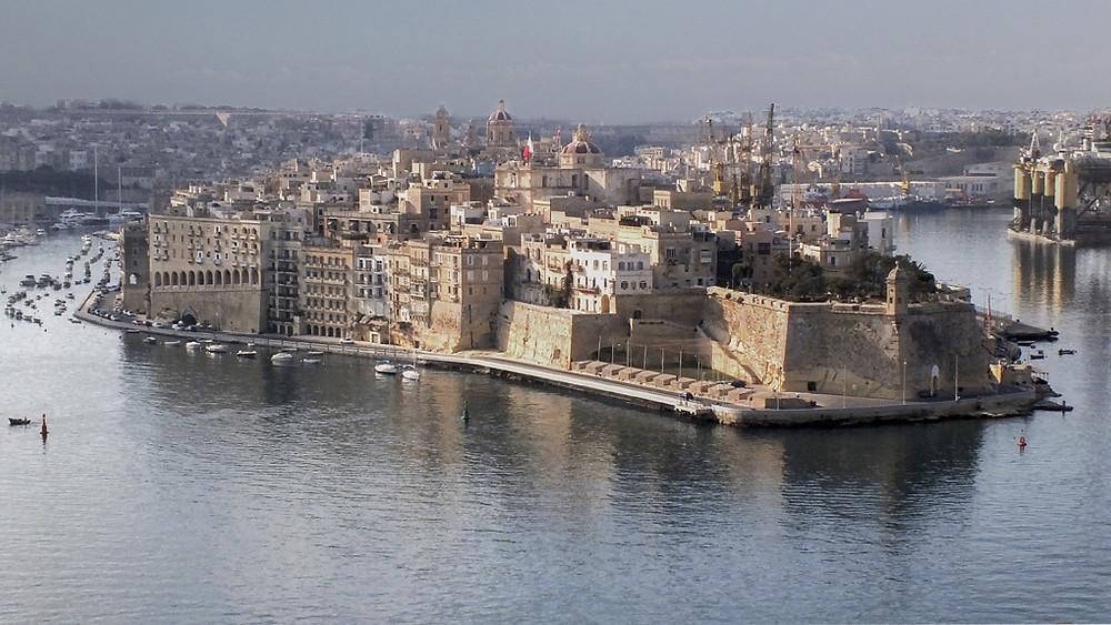 Vista of Malta harbor