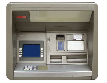 Front panel of an ATM machine
