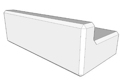 400h x 600w x 1200l retaining wall kerb (coming soon)