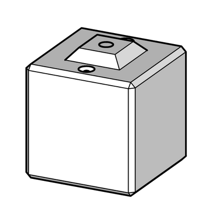 600h x 600w x 600l interlocking block with grout tube
