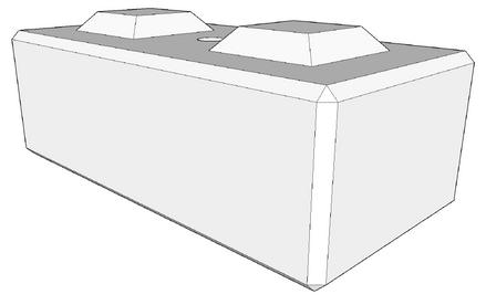 400h x 600w x 1200l retaining wall base (coming soon)