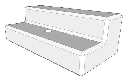 400h x 600w x 1200l retaining wall step (coming soon)