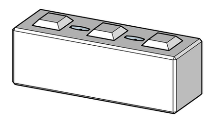 600h x 600w x 1800l interlocking block with tie down points