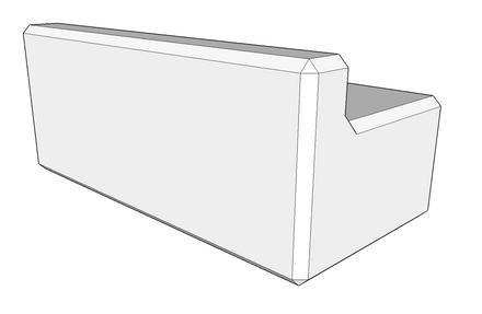 500h x 600w x 1200l retaining wall kerb (coming soon)
