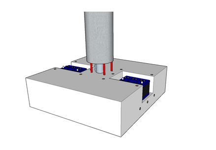 350h x 1200w x 1200l battery cavity foundation block
