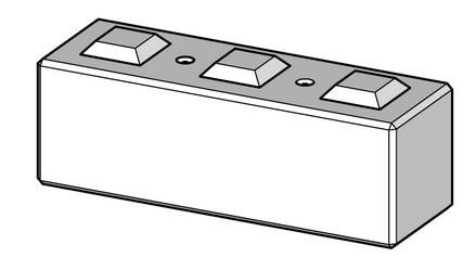 600h x 600w x 1800l interlocking block