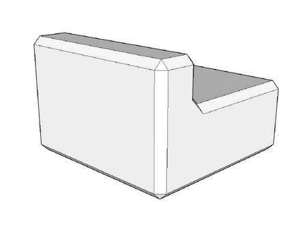 500h x 600w x 600l retaining wall kerb (coming soon)