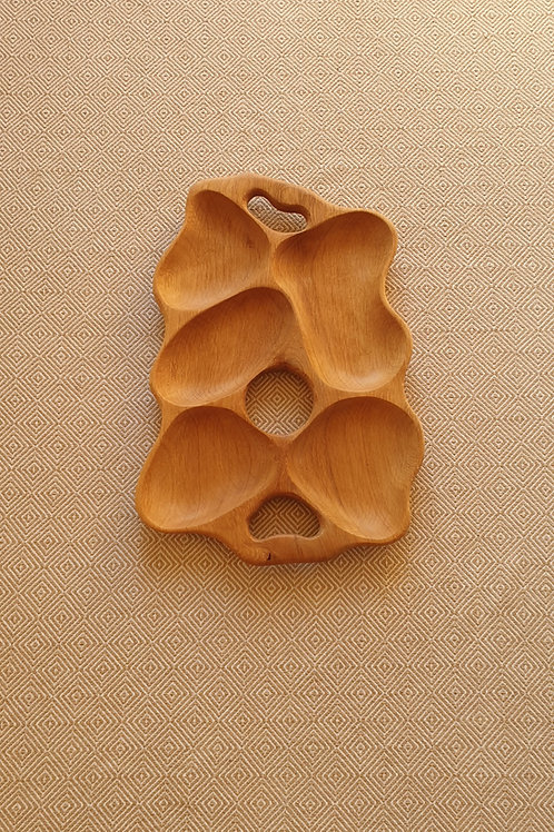 5 dalių padėklas iš ąžuolo (51 cm)