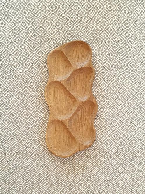 6 dalių padėklas iš ąžuolo (51 cm)