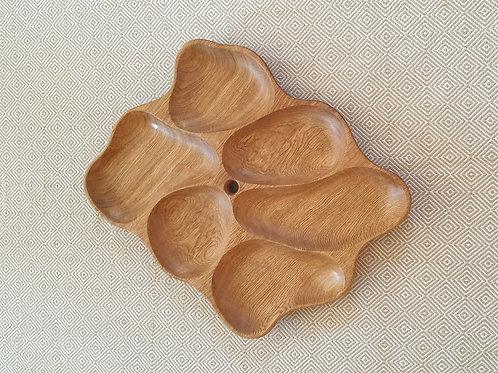 6 dalių padėklas iš ąžuolo (48 cm)
