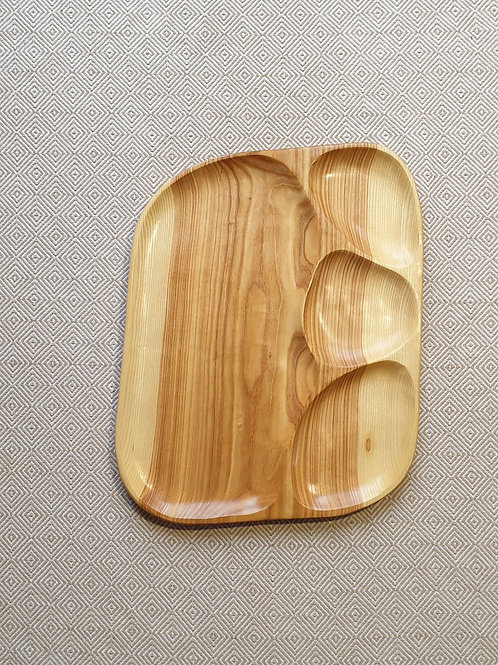 4-piece tray, made out of ash wood  (50 cm)