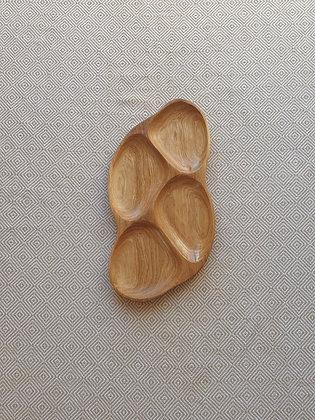 4 dalių padėklas iš ąžuolo (39 cm)