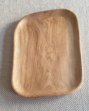 Solid oak tray