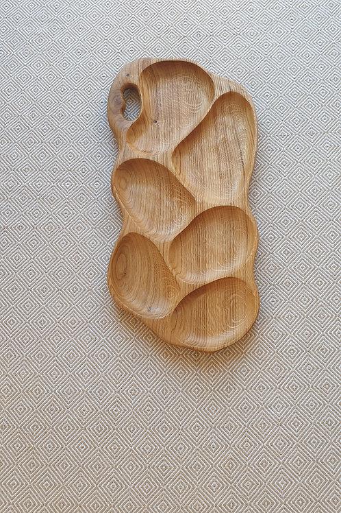 6 dalių padėklas iš ąžuolo (57 cm)