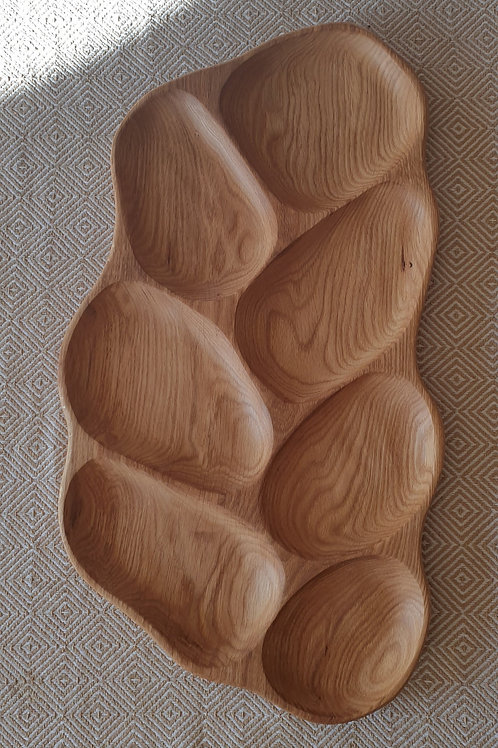 7-piece oak tray