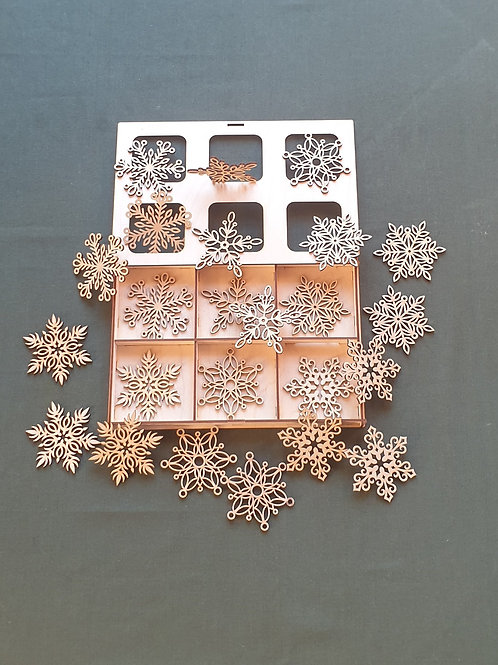 """Christmas toys in a """"Snowflake"""" box"""