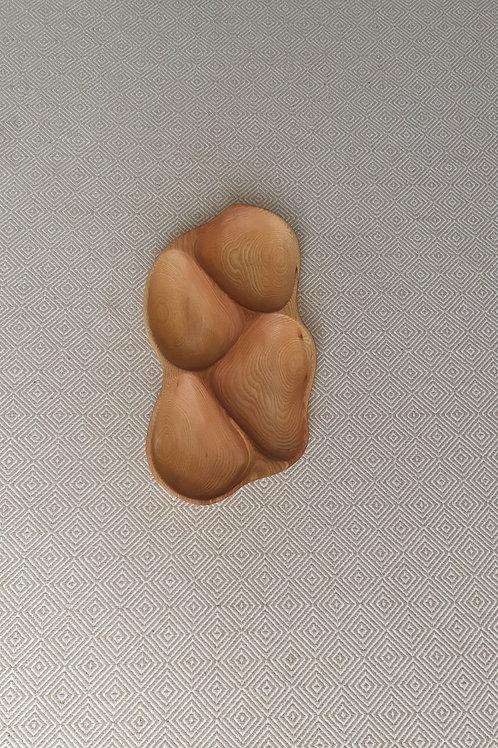 4 dalių padėklas iš uosio (39 cm)