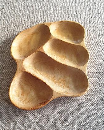 5-piece birch tray