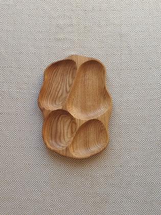4 dalių padėklas iš ąžuolo (37cm)