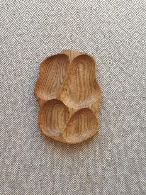 4 dalių padėklas iš uosio  (37cm)
