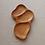 Thumbnail: 3 dalių padėklas iš ąžuolo (44 cm)