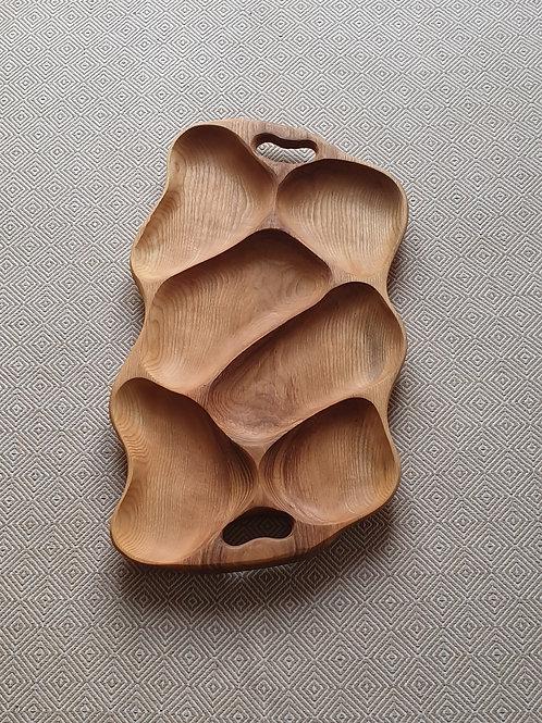 6 dalių padėklas iš uosio (63 cm)