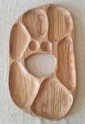 6-piece oak tray