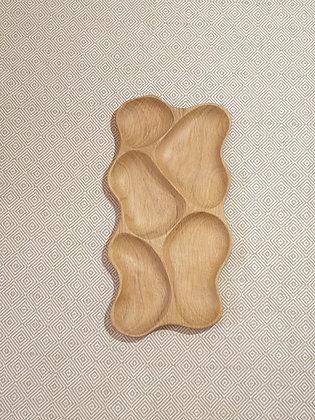 5-piece oak tray (52 cm)