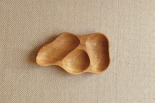 3 dalių padėkliukas iš ąžuolo (32 cm)