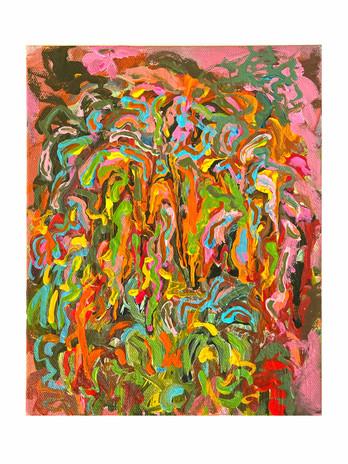 Shara Mays Elton #1 2021 acrylic on canvas 10 x 8 in. unframed