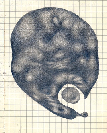 Kennedy Morgan That Feeling When 2020 graphite in gridded notebook 6 1/4 x 4 1/2 in. unframed