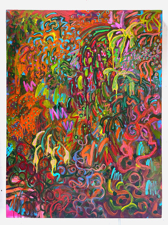 Shara Mays Shirley 2021 acrylic on canvas 48 x 36 in. unframed