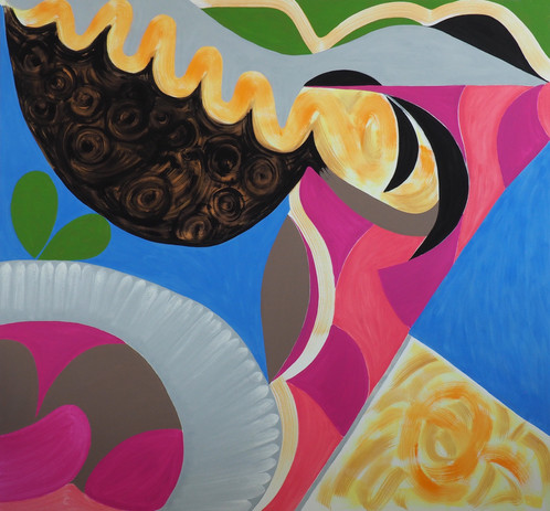 Jessica Snow Confluence – Still Life 1 2020 oil on canvas 58 x 62 in. unframed