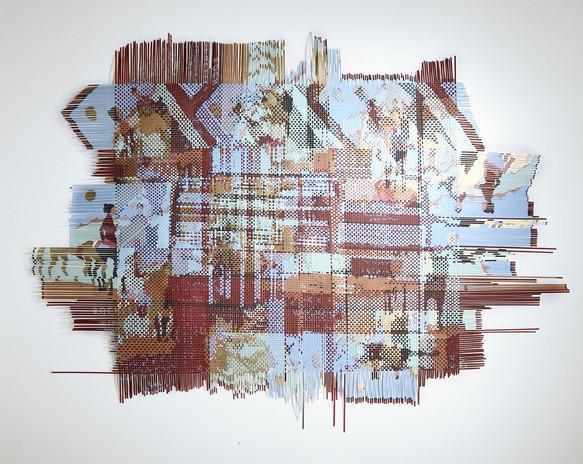 Miguel Arzabe Santa Fe 2012 woven silkscreen art posters 81 x 108 in.