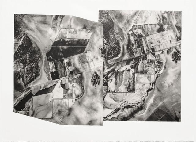 Rachelle Reichert Silver Peak 2018/2010 2019 graphite on paper 26 7/16 x 35 in. framed