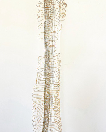Michelle Yi Martin a lasting catch 2021  nettle, monofilament dimensions variable