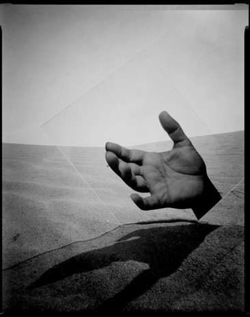 Vanessa Woods The Empty Sound of Wind 2020 silver gelatin contact print from pinhole paper negative                                         8 x 10 in.  edition of 8 courtesy of Jack Fischer Gallery