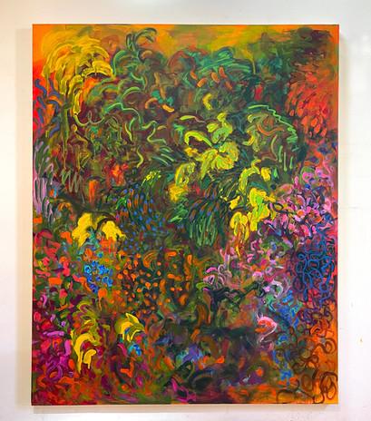 Shara Mays Helen 2021 acrylic on canvas 62 x 50 in.  unframed