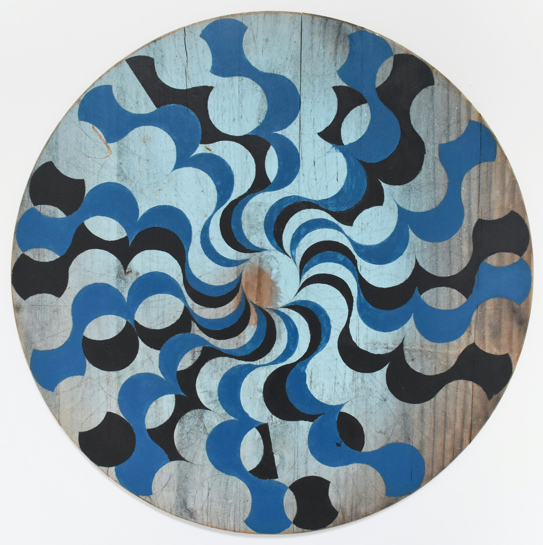Colter Jacobsen Untitled (now) 2019  acrylic on wood 24 x 24 in. courtesy of Anglim/Trimble, Callicoon Fine Arts, Corvi-Mora