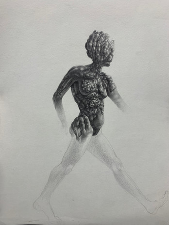 Kennedy Morgan Invisible 2020 graphite on paper 15 1/4 x 12 1/4 in. framed